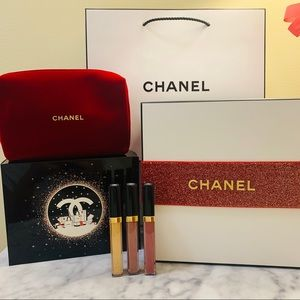 Chanel sheer brilliance Lipgloss Set, box& bag